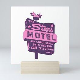 Seeing Stars ... Motel ... (Purple/Pink Sign) Mini Art Print