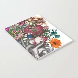 Anatomical heart and flowers Notebook