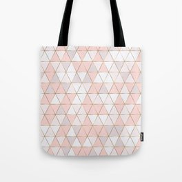 Pink geometrc trianges print Tote Bag
