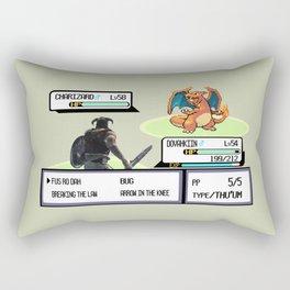 Dovahkiin vs Charizard Rectangular Pillow
