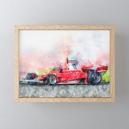 Niki Lauda No.12 Framed Mini Art Print