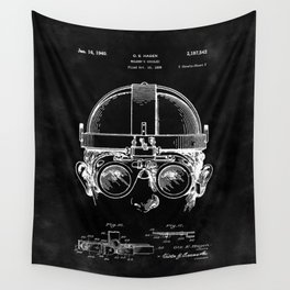 Welding Goggles Blueprint Wall Tapestry