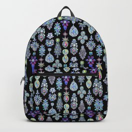 AB Crystal Earrings Pattern Backpack