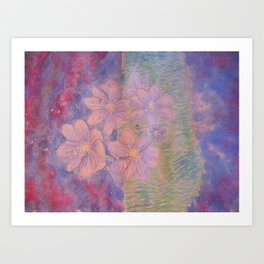 Night flowers Art Print