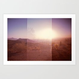 Valley of the Sun [lo-fi] Art Print
