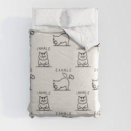 Inhale Exhale Cat Comforters
