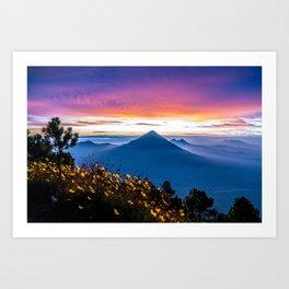 Sunrise in Guatemala Art Print