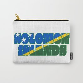 Solomon Islands Font with Islander Flag Carry-All Pouch
