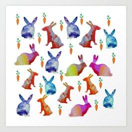Rabbits Joy Art Print