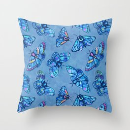 Marvelous Moths Throw Pillow