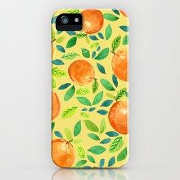 Citrus Yellow iPhone Case