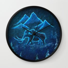 A Mammoth Journey Wall Clock