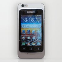 samsung iPhone & iPod Skins featuring iPhone crashes Samsung by CrazyWorld
