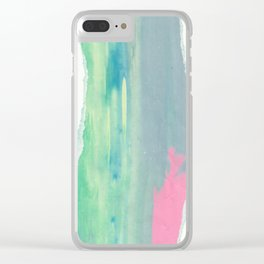 He's waiting for her. Clear iPhone Case