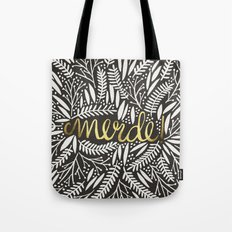 Pardon My French – Gold on Black Tote Bag