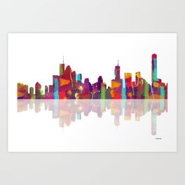 Brisbane Skyline 1 Art Print