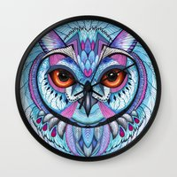 frozen Wall Clocks featuring Frozen by Ola Liola
