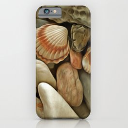 Sea Pebbles With Shells iPhone Case