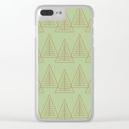 Winter Hoidays Pattern #10 Clear iPhone Case