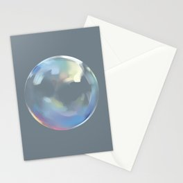 Bubble of iridescent rainbow Stationery Cards