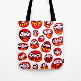 Japanese Daruma Characters Tote Bag