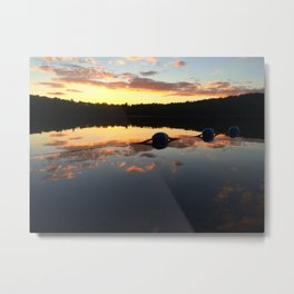 Tip Toe by the Sunset Metal Print