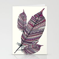 feathers Stationery Cards featuring FEATHERS by Monika Strigel®