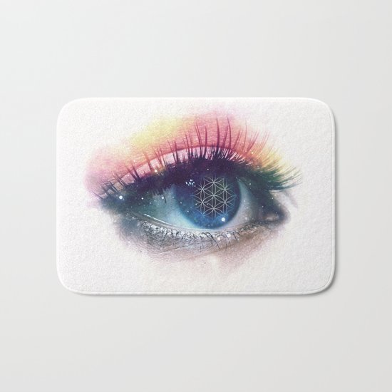 Flower Of Life (Cosmic Vision) Bath Mat