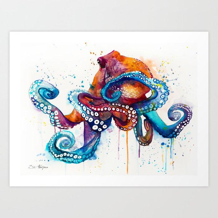 Octopus Kunstdrucke