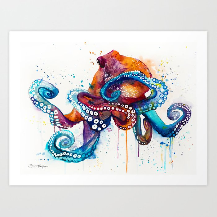 Octopus Art Print By Slaveika Society6