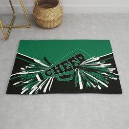 Dark Green Cheerleader Rug
