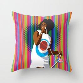Gladys Subway Soul by Dawn Carrington Throw Pillow