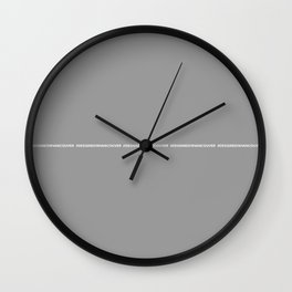 DESIGNED IN VANCOUVER grey Wall Clock
