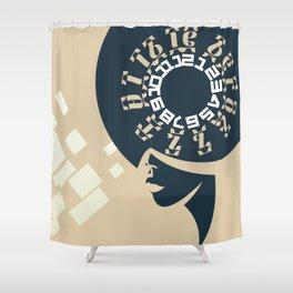 GEEZ-GIRL Shower Curtain