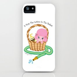 It puts the lotion in the basket. // Silence of the Lambs iPhone Case