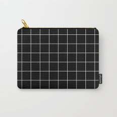 Black White Grid Carry-All Pouch