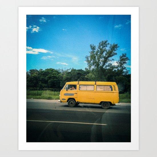 yellow_kombi#02 Art Print