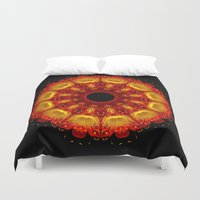 phoenix Duvet Covers featuring Phoenix by Mr. Pattern Man