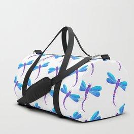 Blue dragonfly pattern Duffle Bag
