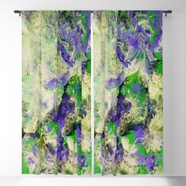 Pansies in Cream Blackout Curtain