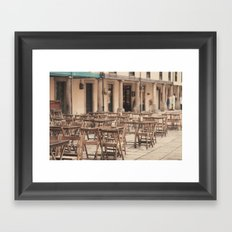 Tables and chairs Framed Art Print