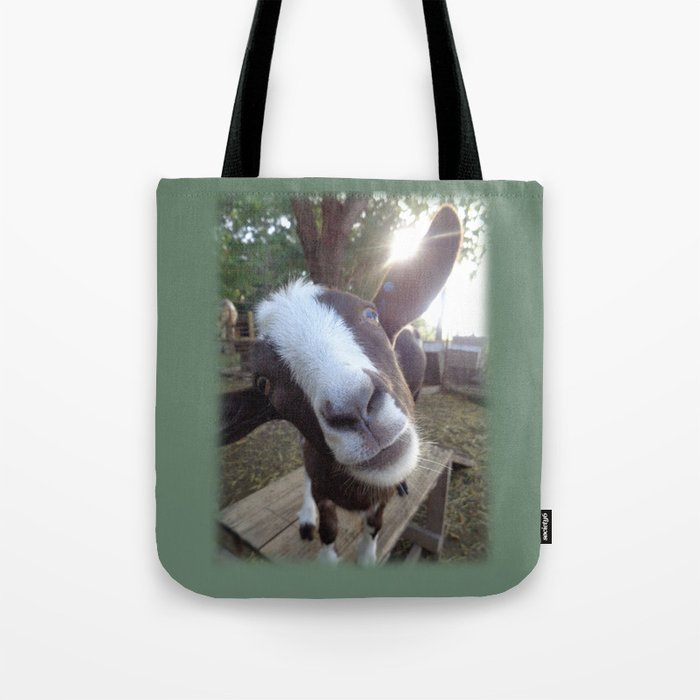 Goat Barnyard Farm Animal Tote Bag