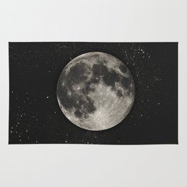 The Moon  [Sans Type] Rug