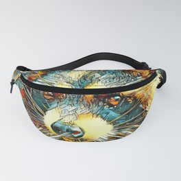 AnimalArt_Raccoon_20180101_by_JAMColors Fanny Pack
