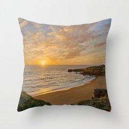Algarve sunset Throw Pillow