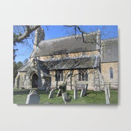 St. Giles Church, Holme. Metal Print