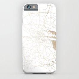 Dublin White on Gold Street Map II iPhone Case