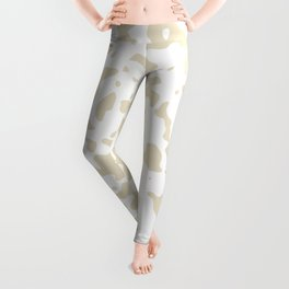 Spots - White and Pearl Brown Leggings