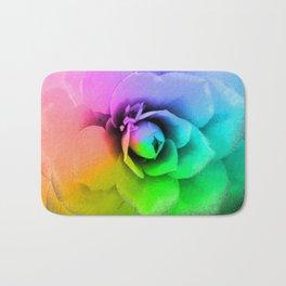Rainbow Blossom Bath Mat