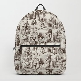 Alice in Wonderland | Toile de Jouy | Brown and Beige Backpack